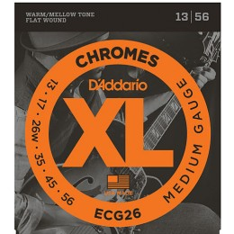 D'Addario ECG26 Chromes Flatwound Guitar Strings Medium