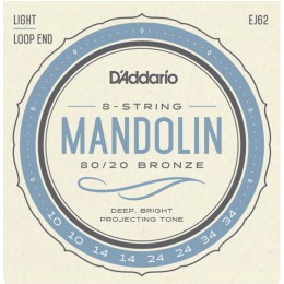 D'Addario EJ62 80/20 Bronze Mandolin Strings Light 10-34