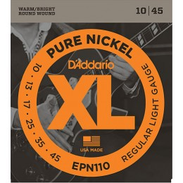 D'Addario EPN110 Pure Nickel, Regular Light, 10-45 Strings