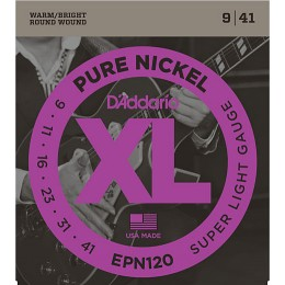 D'Addario EPN120 Pure Nickel, Super Light, 9-41 Strings