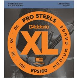 D'Addario EPS160 ProSteels Bass, Medium, 50-105, Long Scale Strings