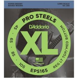 D'Addario EPS165 ProSteels Bass, Custom Light, 45-105, Long Scale Strings