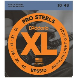 D'Addario EPS510 ProSteels, Regular Light, 10-46 Strings