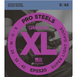 D'Addario EPS520 ProSteels, Super Light, 9-42 Strings