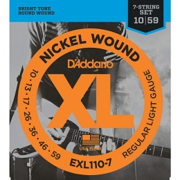 D'Addario EXL110-7 Nickel Wound, 7-String, Regular Light, 10-59 Strings