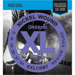 D'addario EXL115BT Electric Guitar Strings Balanced Tension