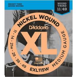 D'Addario EXL115W Nickel Wound 11-49 Wound 3rd