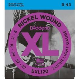 D'addario EXL120 Super Light 9-42 Gauge Electric Guitar Strings