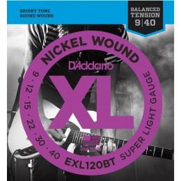 D'addario EXL120BT Electric Guitar Strings Balanced Tension