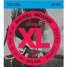 D'Addario EXL145 Nickel Wound, Heavy, Plain 3rd, 12-54