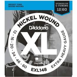 D'Addario EXL148 Nickel Extra-Heavy Guitar Strings 12-60