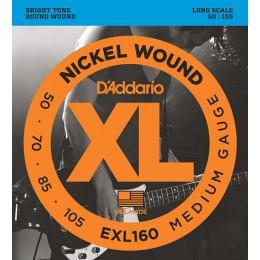 D'Addario EXL160 Nickel Wound Bass, Medium, 50-105, Long Scale