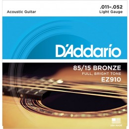 D'Addario EZ910 85/15 Great American Bronze Wound Light 11-54