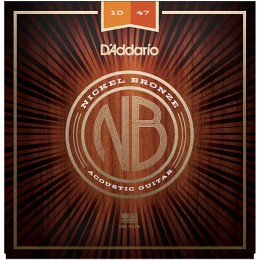 D'Addario Nickel Bronze Wound NB1047 Acoustic Strings 10-47