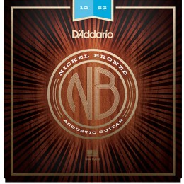 D'Addario Nickel Bronze Wound NB1253 Acoustic Strings 12-53