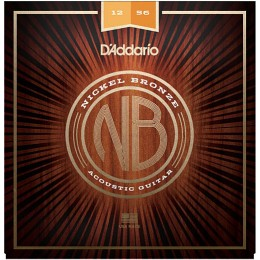 D'Addario Nickel Bronze Wound NB1256 Acoustic Strings 12-56