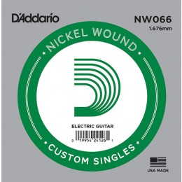 D'Addario NW066 Nickel Wound Guitar Single String