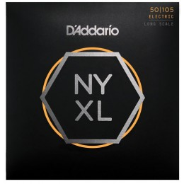 D'Addario NYXL50105 Set Long Scale Bass Strings Medium 50-105