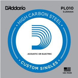 D'Addario PL010 Single Plain Steel String .010
