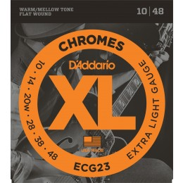 D'Addario ECG23 Chromes Flatwound Extra Light 10-48