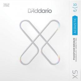 D'Addario XSAPB1047-12 XS Phosphor Bronze 12-String Acoustic Guitar Strings Front