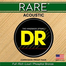 DR Strings RPM-12 Rare Acoustic Guitar Strings Phosphor Bronze Light 12-54 Front