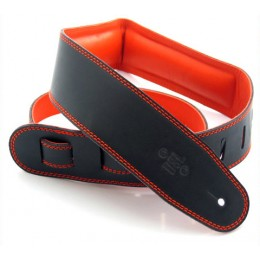 DSL GEG25-15-5 Leather Strap Black with Orange Backing 2.5 Inches