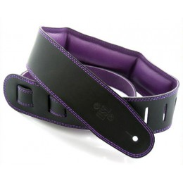 DSL GEG25-15-9 Leather Strap Black with Purple Backing 2.5 Inches