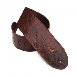 """DSL GMD35-Brown Distressed Brown Leather Guitar Strap 3.5"""""""