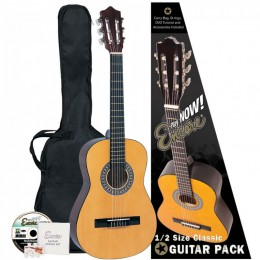 Encore 1/2 Size Classical Guitar Pack Natural Main