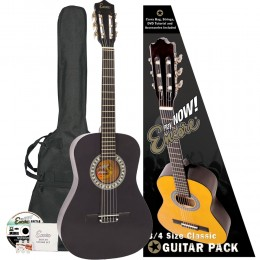 Encore 3/4 Size Classical Guitar Pack Black Pack