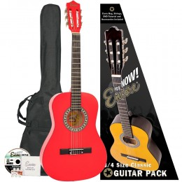 Encore 3/4 Size Classical Guitar Pack Red Pack