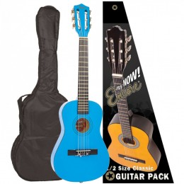 Encore 1/2 Size Classical Guitar Pack Metallic Blue Front