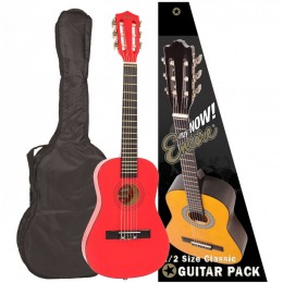 Encore 1/2 Size Classical Guitar Pack Metallic Red Main