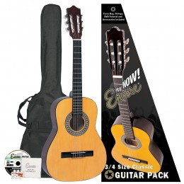 Encore 3/4 Size Classical Guitar Pack Natural Pack