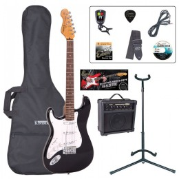Encore E6 Left Hand Electric Guitar Package Black Main