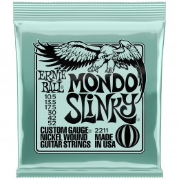 Ernie Ball Mondo Slinky Nickel Wound Electric Guitar Strings 10.5-52 Gauge Front