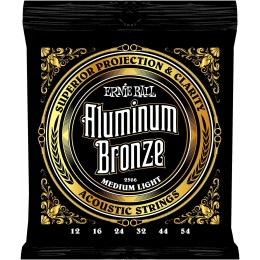 Ernie Ball Aluminium Bronze Strings Medium Light 12-54