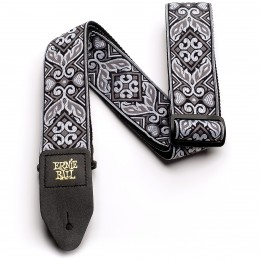 Ernie Ball Jacquard Guitar Strap Tribal Silver