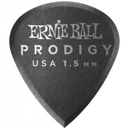 Ernie Ball Mini Prodigy Picks Black 1.5mm Bag of 6 Main