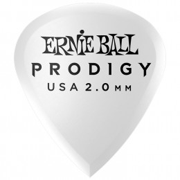Ernie Ball Mini Prodigy Picks White 2mm Bag of 6 Main