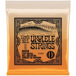 Ernie Ball Ukulele Ball End Clear Nylon Strings Front