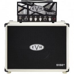 EVH 5150III 15W LBXII Head and 1x12 Straight Cabinet Ivory Half Stack Package