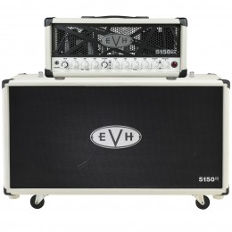 EVH 5150III 50 Watt Head with 5150III 2x12 Cabinet in Ivory