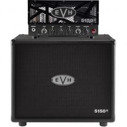 EVH 5150III LBX-S Head With 5150III Straight Cabinet Black Half Stack Pack Main