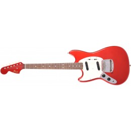 Fender MIJ Traditional '60s Mustang Left Handed Special Run Candy Apple Red With Matching Headstock Front