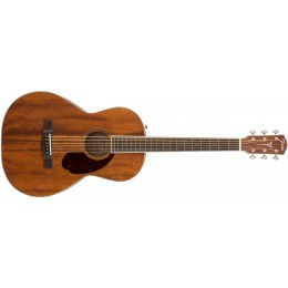 Fender PM-2 Parlor NE All-Mahogany Paramount Natural Guitar