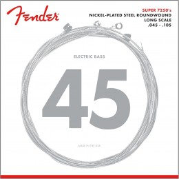 Fender 7250M Nickel Plated Steel Bass Strings Medium Long Scale 45-105