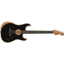 Fender American Acoustasonic Stratocaster Black Front