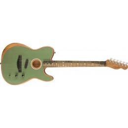 Fender American Acoustasonic Telecaster Surf Green Front